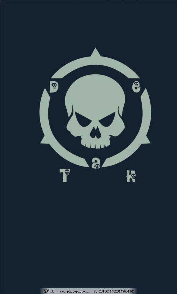骷髅 手机壁纸 黑色 死亡 图标 设计 标志图标 其他图标 ai