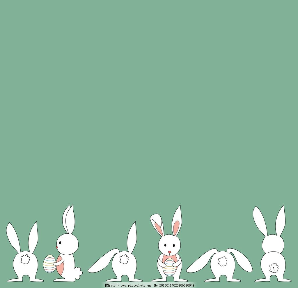 卡通 小白兔 卡通兔子
