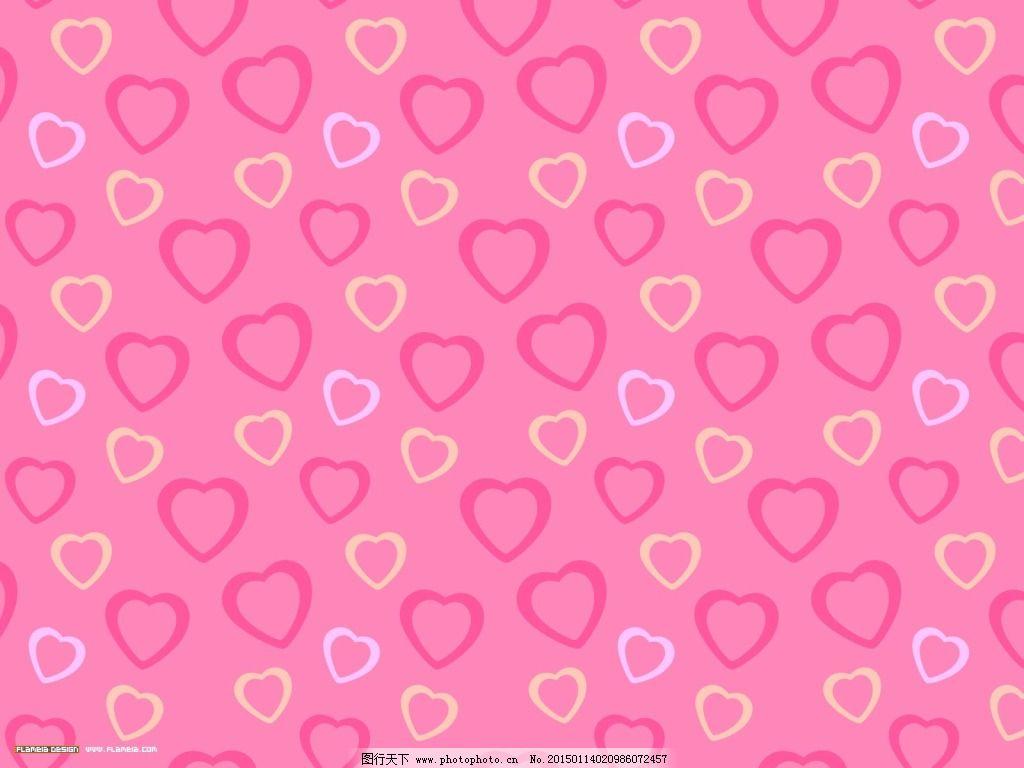 粉色的心形背景图片免费下载