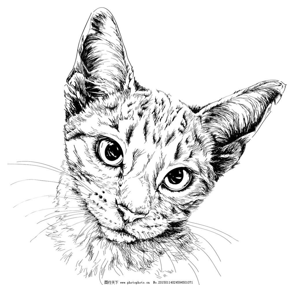 动物纹身图案 手绘 图腾