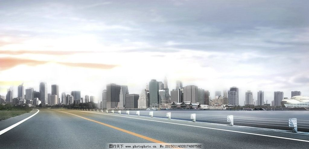 马路城市景观设计图片