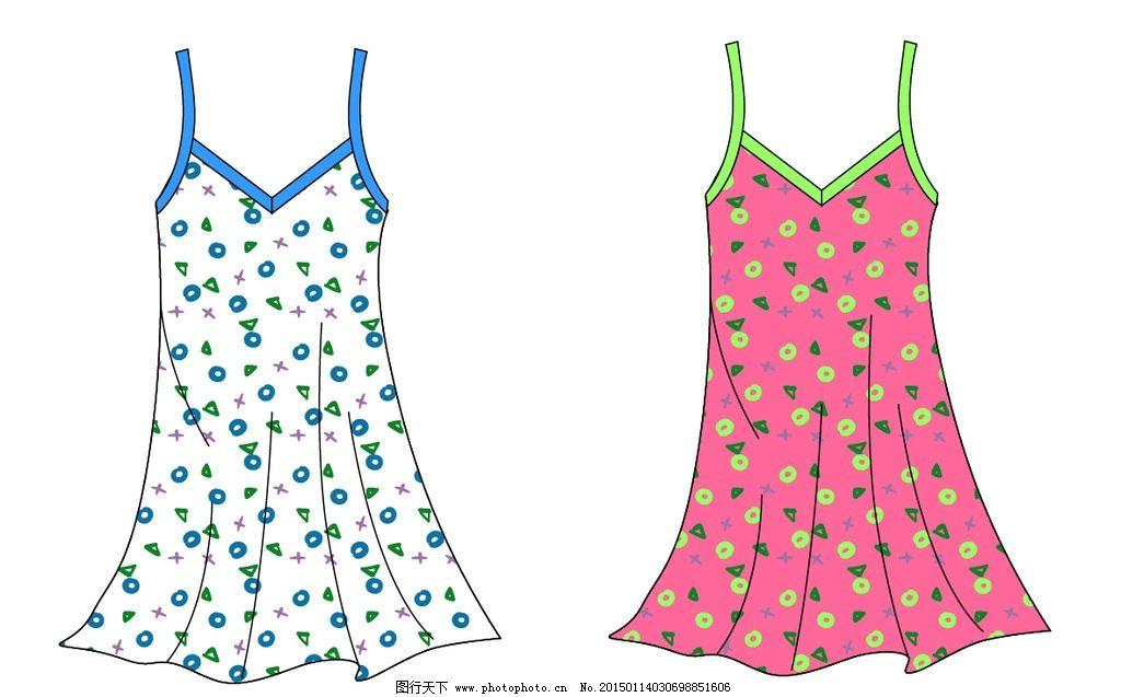 吊带 花型吊带 吊带衣 卡通花吊带 吊带设计 设计 广告设计 服装设计