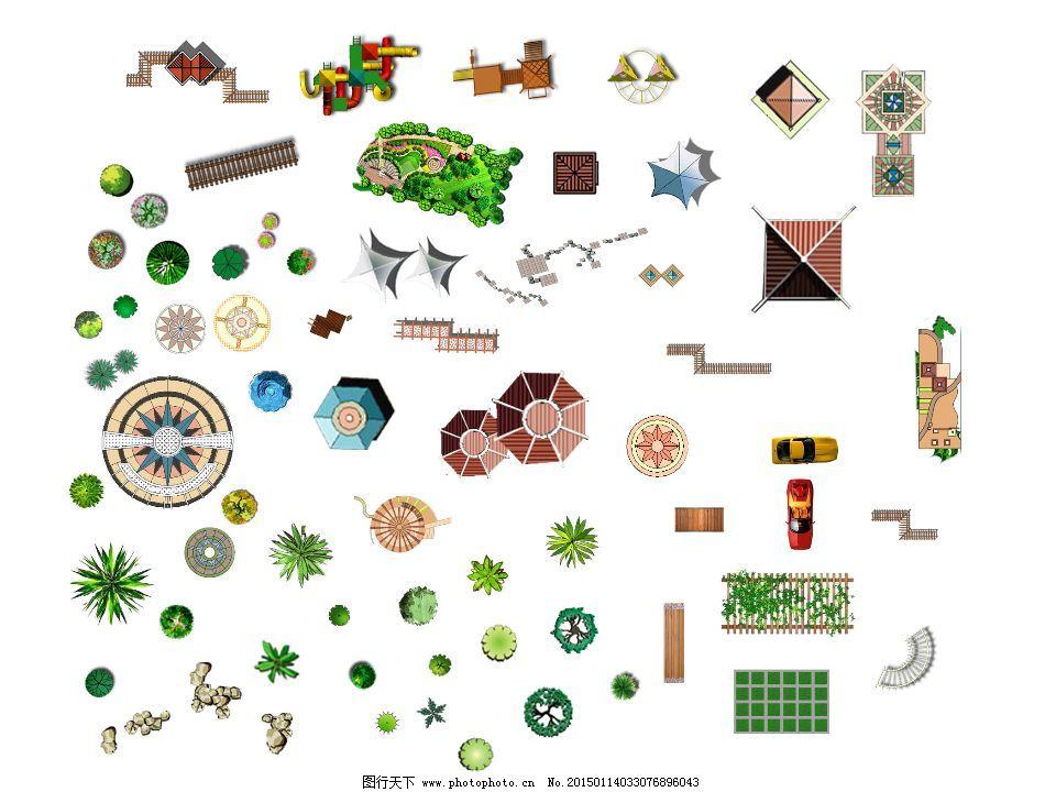 园林景观 手绘植物 生活用品 室内陈设 3d模型 psd源文件 其他psd素材