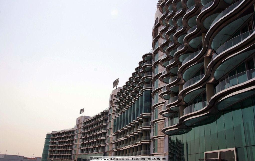 迪拜 跑马场 宾馆大楼图片