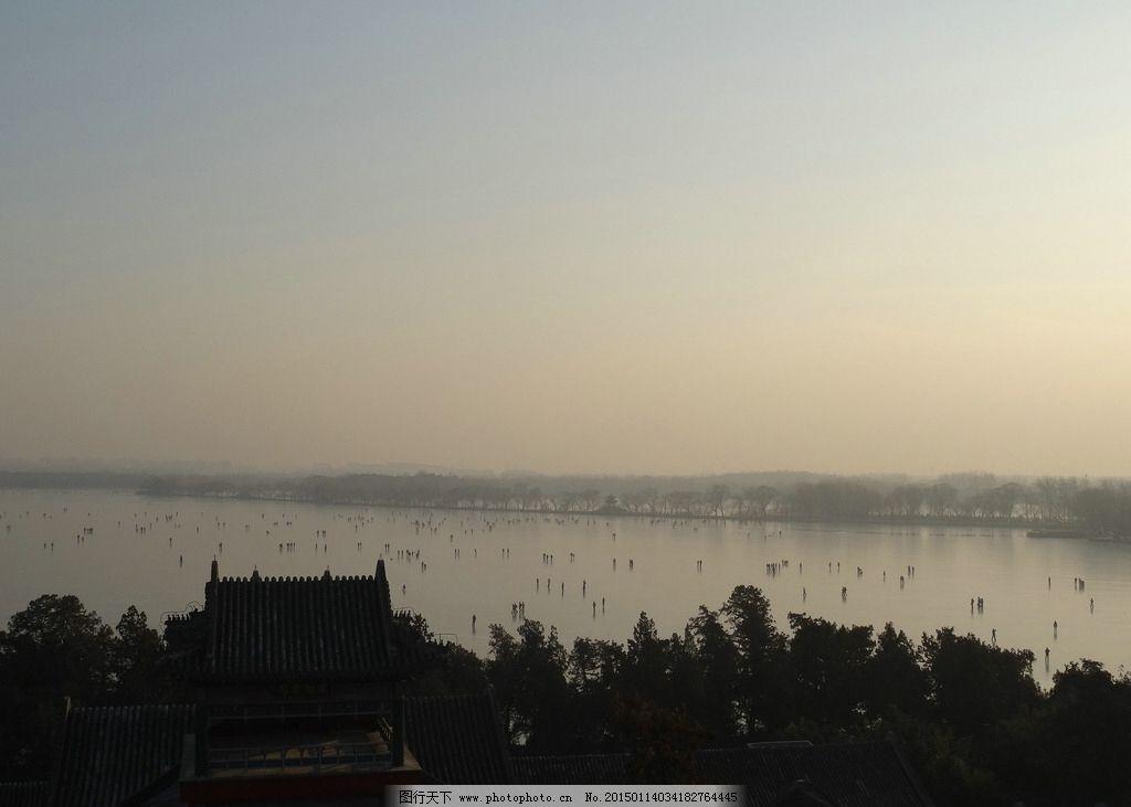冬天的颐和园 北京 昆明湖 结冰 湖面 摄影 旅游摄影