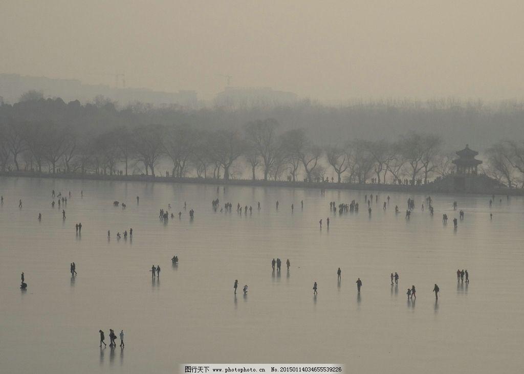 颐和园 冬天 昆明湖 北京 结冰 湖面 冬天的颐和园 摄影 自然景观