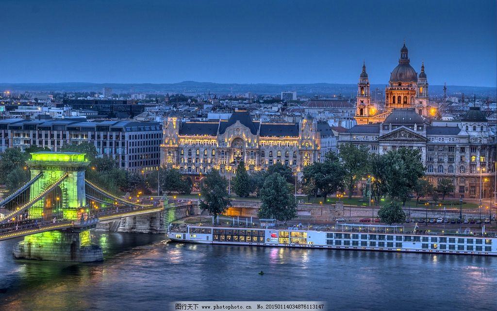 布达佩斯 匈牙利夜景图片