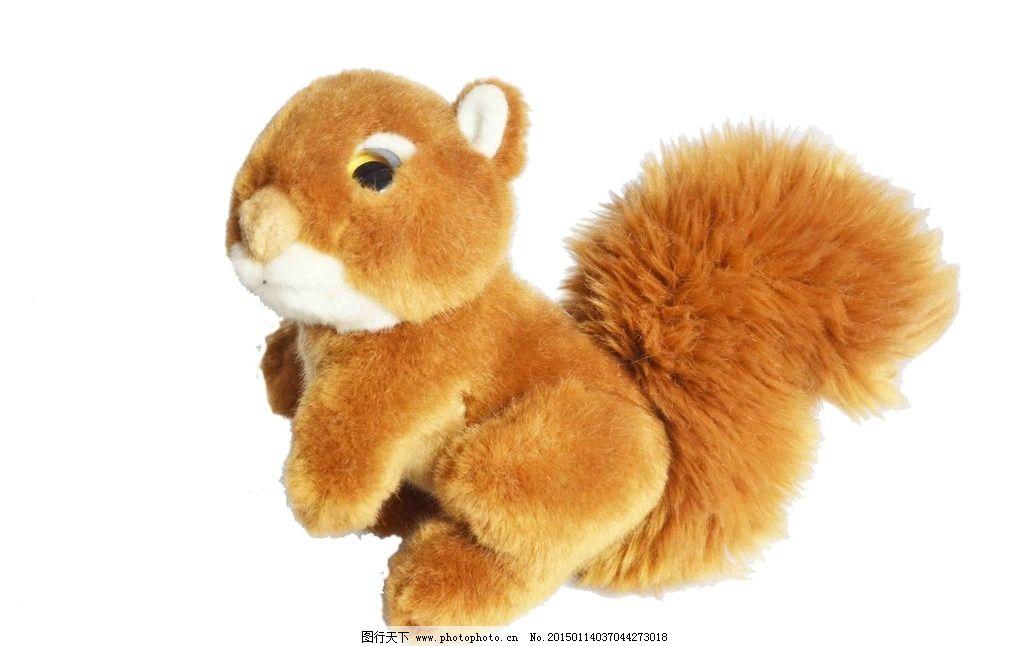 可爱毛绒松鼠公仔图片
