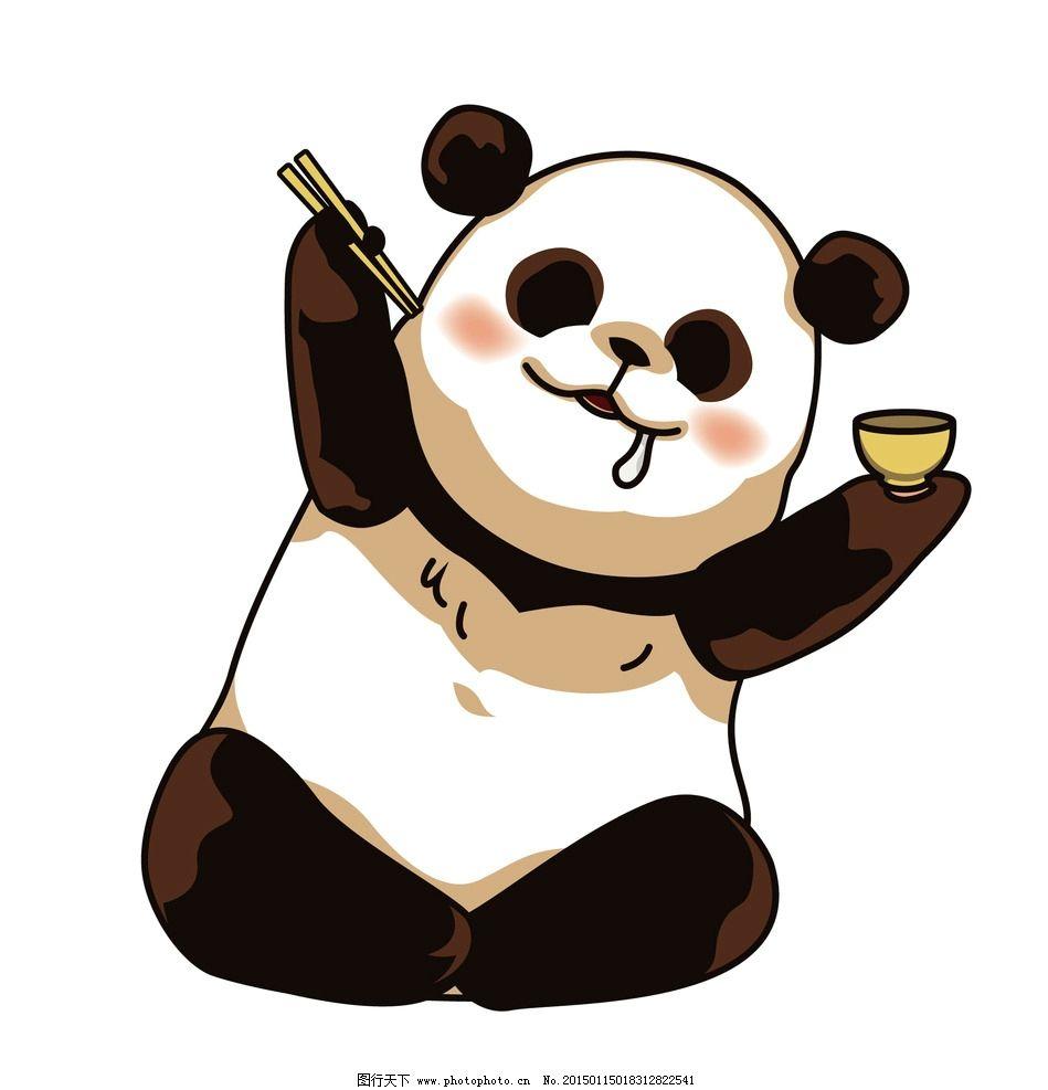 卡通矢量熊猫 儿童插画 广告设计 卡通设计 动物 可爱 熊猫素材