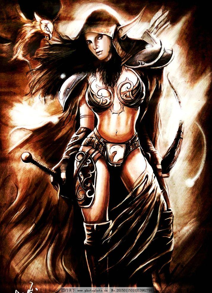 手绘 马克笔 彩铅 色粉 工业设计 表现技法 设计 黑暗游侠 游戏 人物