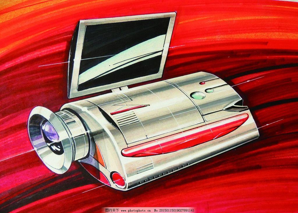 产品表现技法图片,手绘 马克笔 彩铅 色粉 工业设计
