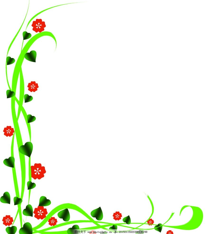 花边 花纹 底图 花朵 叶子 设计 底纹边框 花边花纹 300dpi psd