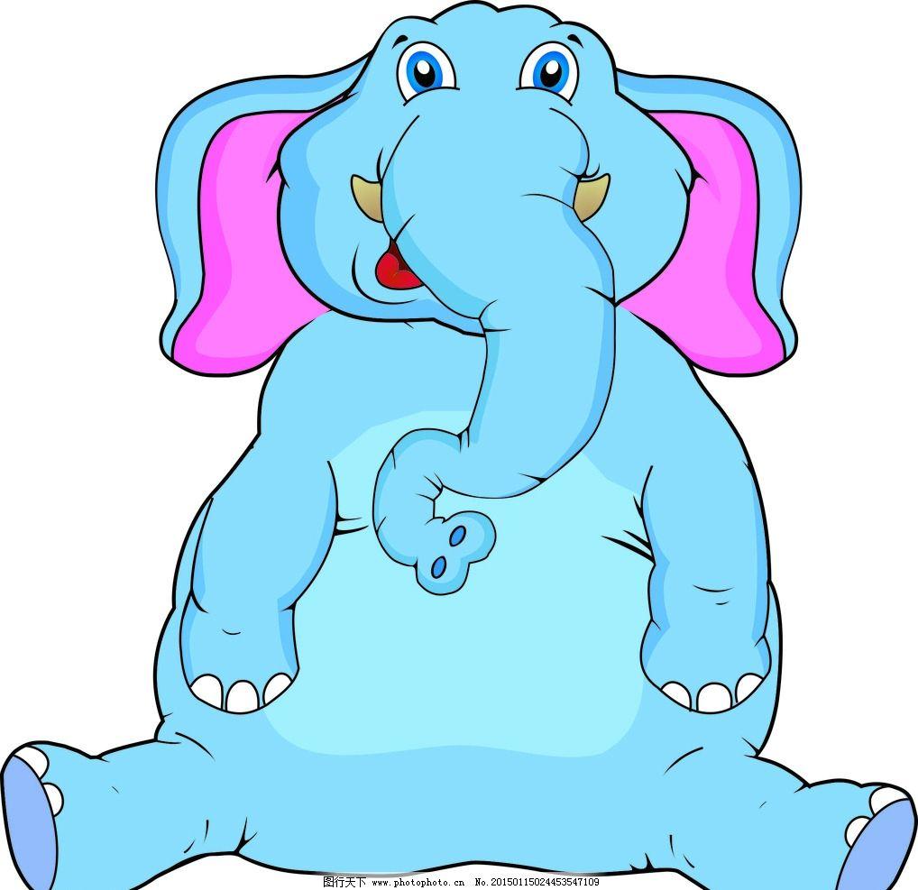 大象 马戏团 动物 卡通