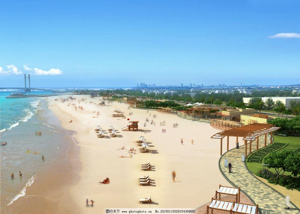 海滩休闲景观设计图片