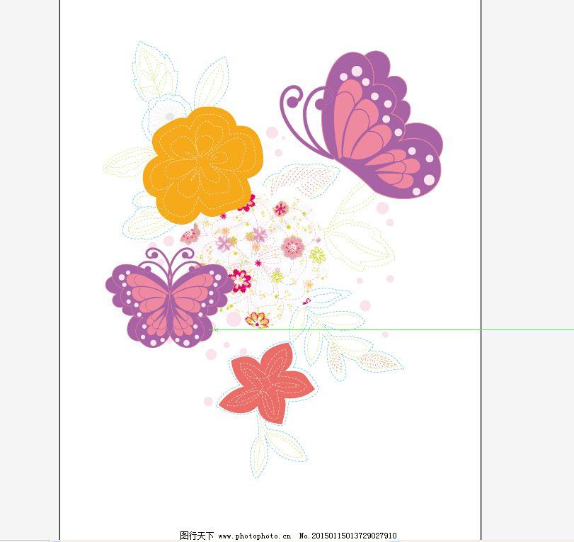 欧式刺绣图样花朵
