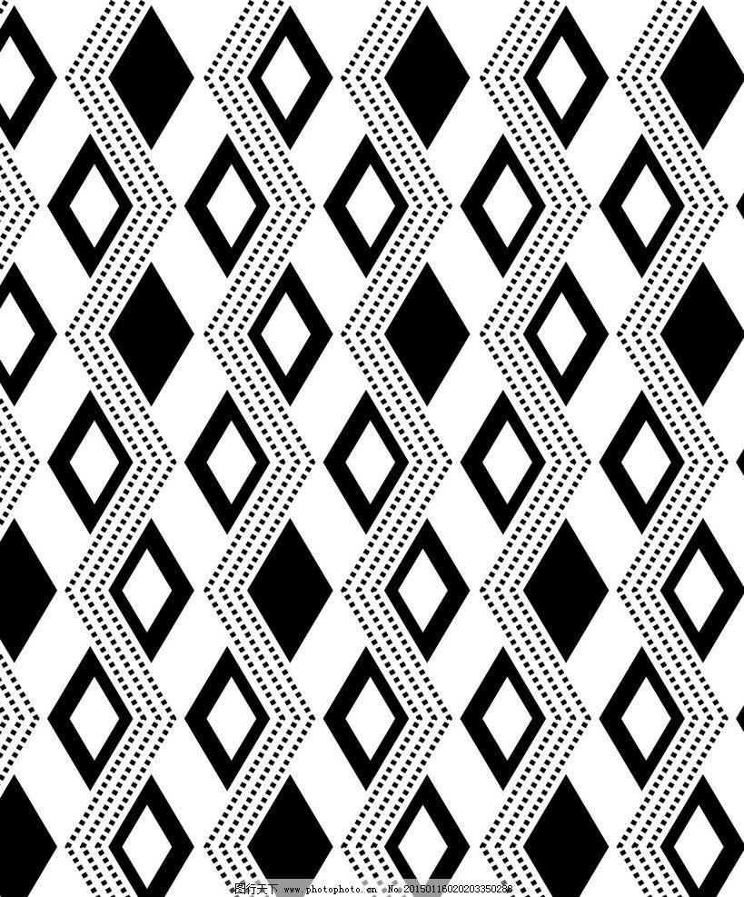 菱形 四方连续 花纹图案 背景花纹 黑白底纹 波浪纹 布料印花 布纹图案和花型 设计 底纹边框 背景底纹 AI