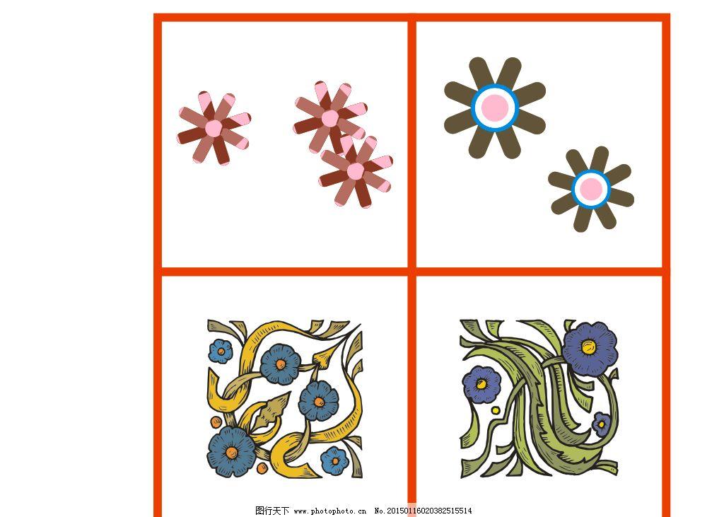设计图库 底纹边框 花边花纹  鲜花矢量图 欧式花纹花边 各种角花图片