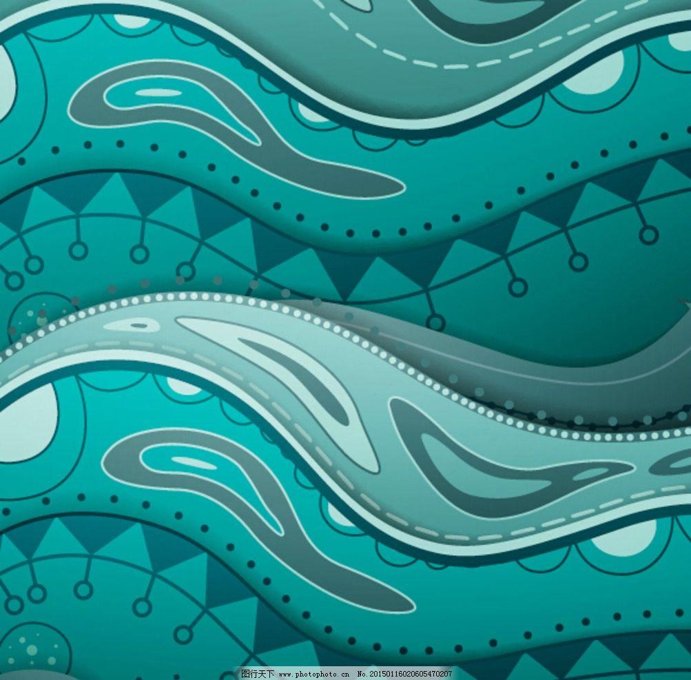 海面 手绘 蓝色 矢量 矢量大海 抽象手绘 矢量花纹  设计 底纹边框