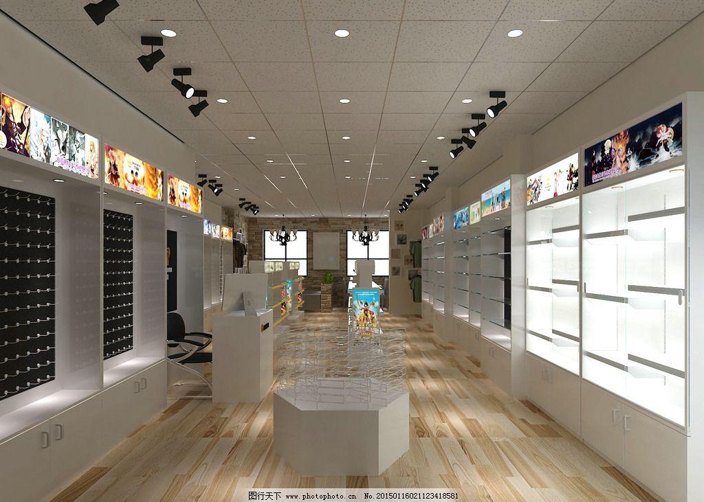 77动漫店 动漫店设计 3d设计图 动漫连锁店 室内设计 设计 3d设计 3d