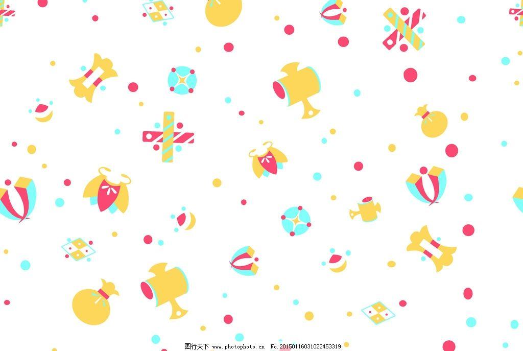 儿童 服饰 卡通 花纹 印花 可爱 循环图 印花-循环图 设计 广告设计