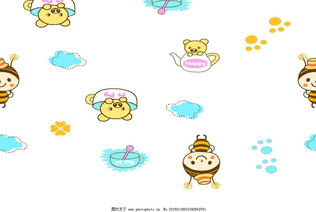 儿童 服饰 卡通 花纹 印花 动物 循环图 印花循环图 设计 广告设计 其