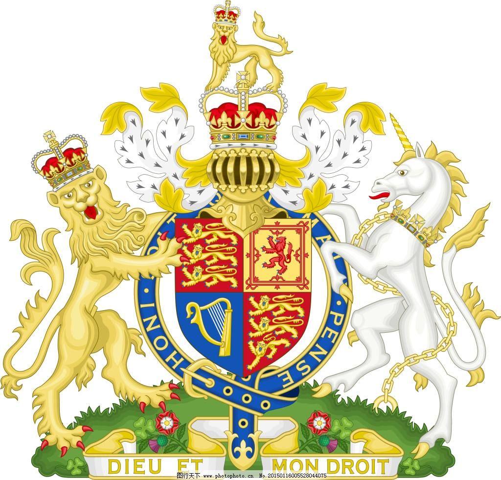 英国国徽图片