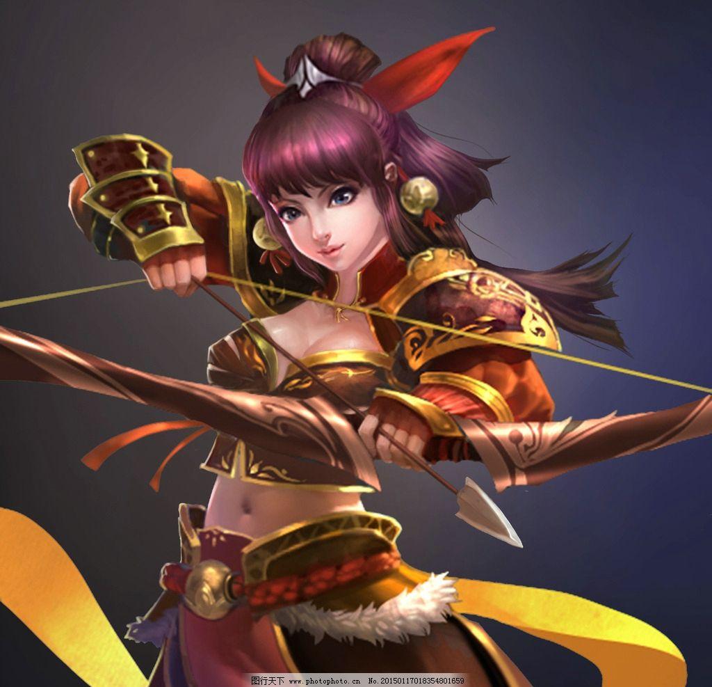 游戏原画 游戏 原画 游戏人物 人物 武将 玄幻 武侠 美女 弓手  设计