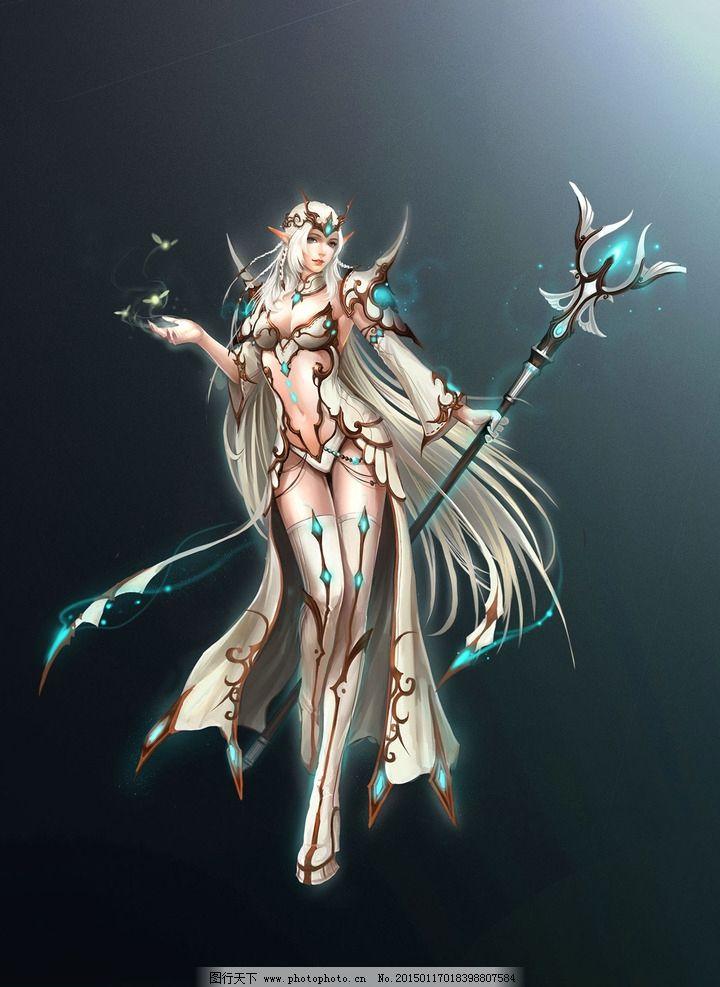 游戏原画 游戏 原画 游戏人物 人物 武将 玄幻 武侠 美女 法师 女神