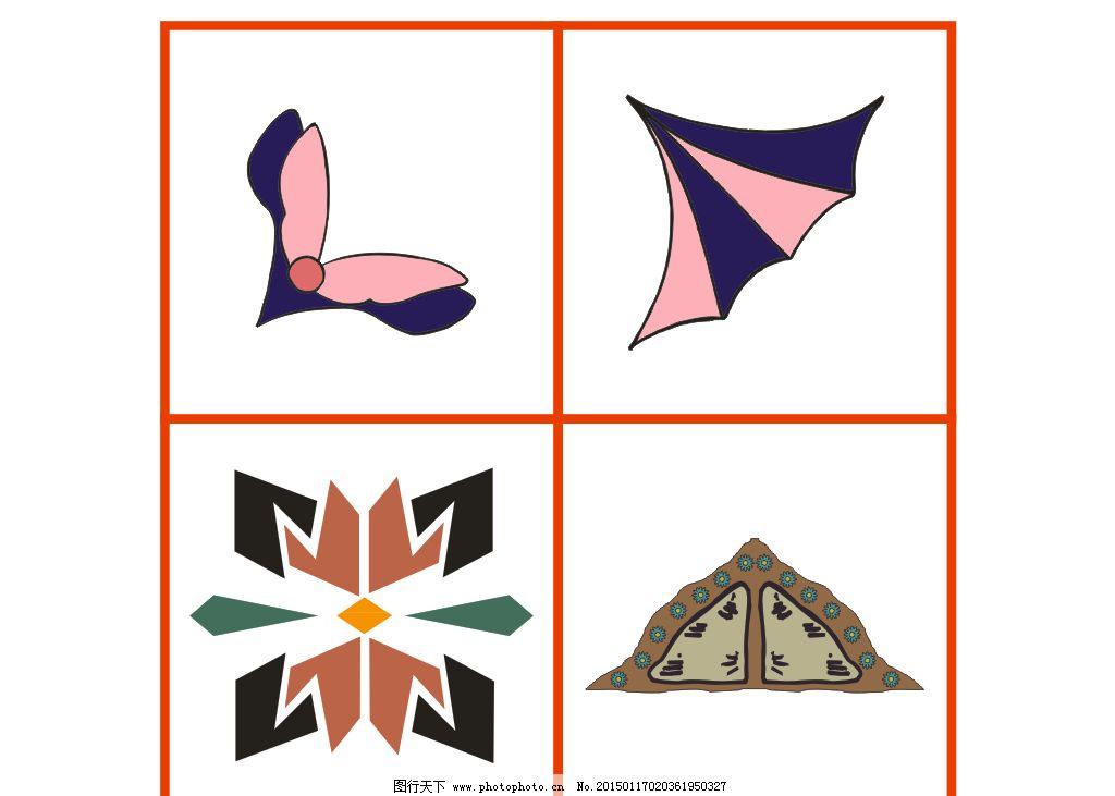 设计图库 底纹边框 花边花纹  抽象图 各种角花图片 鲜花矢量图 欧式