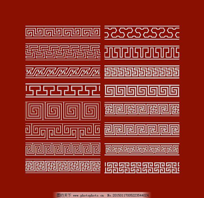 传统花纹边框矢量素材
