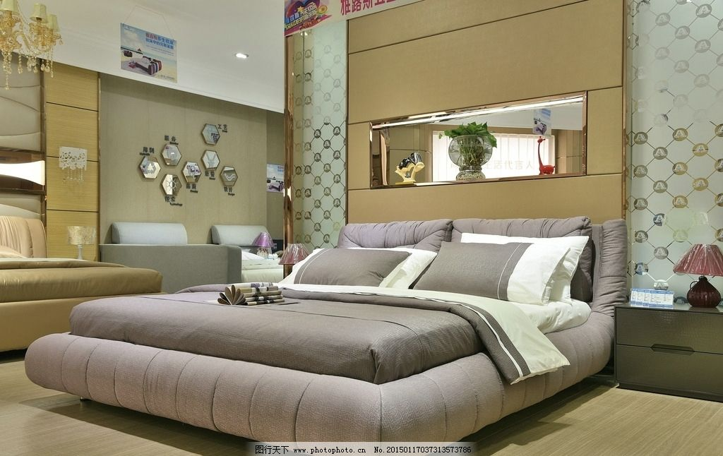 背景墙 床 房间 家居 家具 起居室 设计 卧室 卧室装修 现代 装修 102