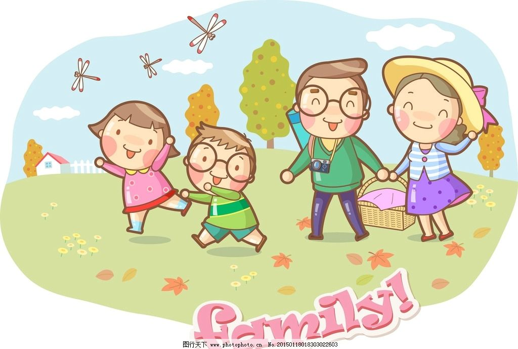 温馨家庭图片_动漫人物_动漫卡通_图行天下图库