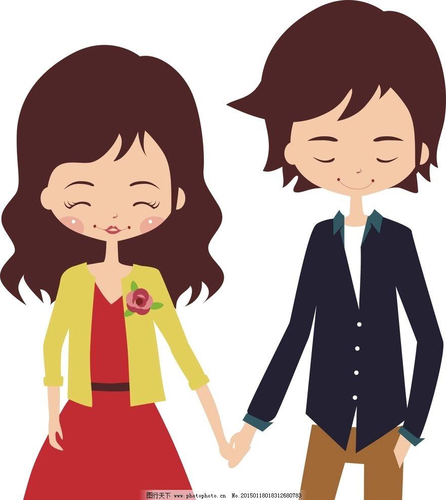 情侣 卡通人物 老公老婆 动漫人物 动漫动画 t恤印花 印花图案 男人图片
