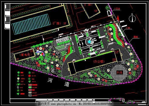 厂区绿化平面图