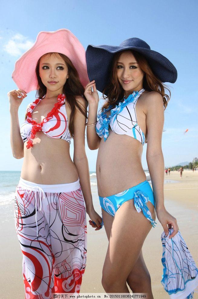 泳衣海边 海边模特