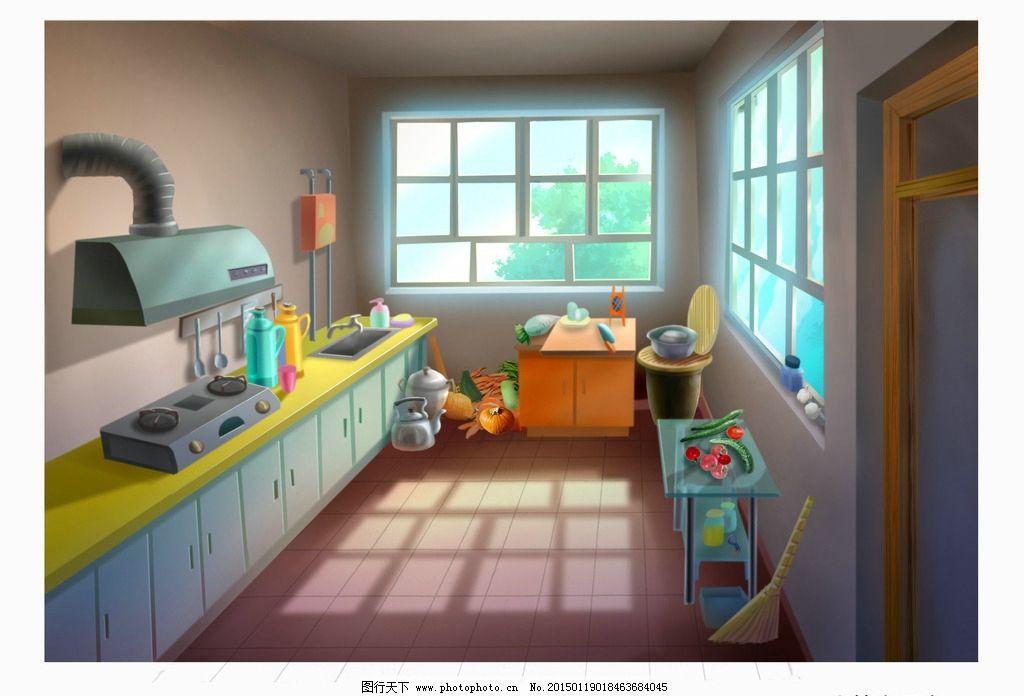 室内动画场景图片