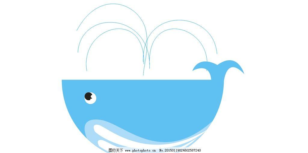鲸鱼简笔画彩色fushi