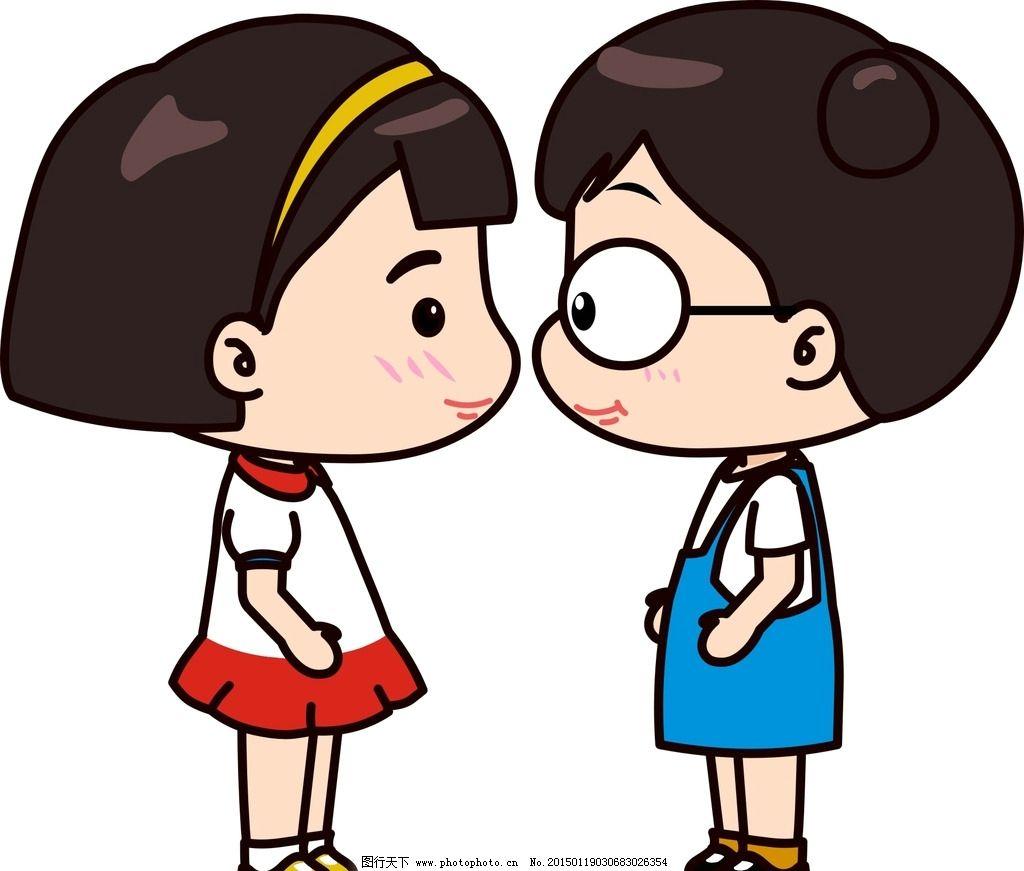 情侣 卡通人物 老公老婆 动漫人物 动漫动画 t恤印花 印花图案 男人