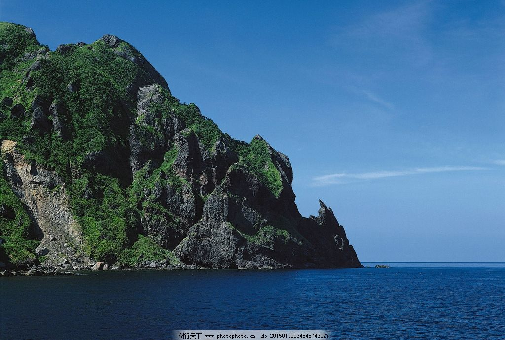 山海天空 大山 海边 天空 海边天空 摄影图片 大海与小岛 摄影 自然
