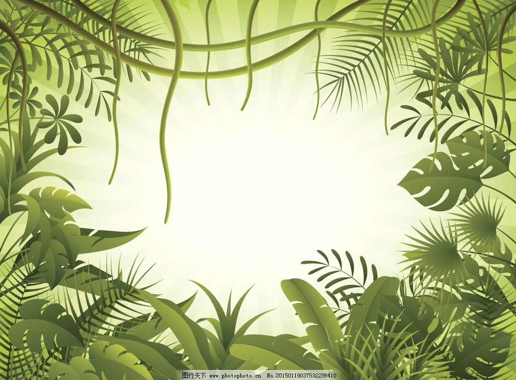 卡通树林图片