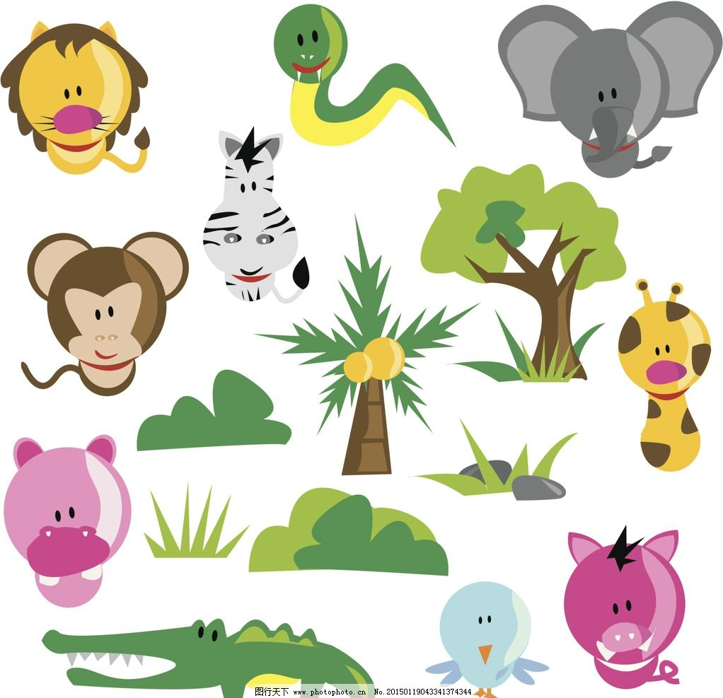 森林动物图片
