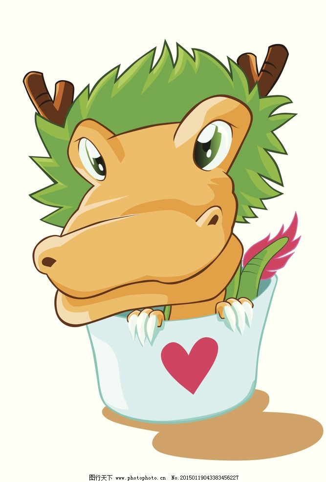 十二生肖 动物 卡通 漫画 生肖 龙 设计 动漫动画 其他 300dpi jpg