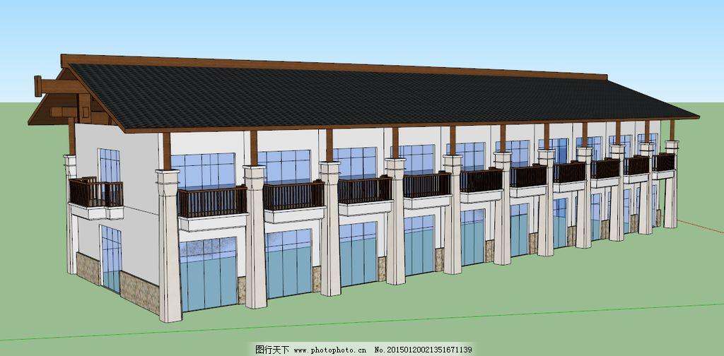 小楼 sketchup 室外模型 3d设计模型 源文件 skp skp室外模型 skp