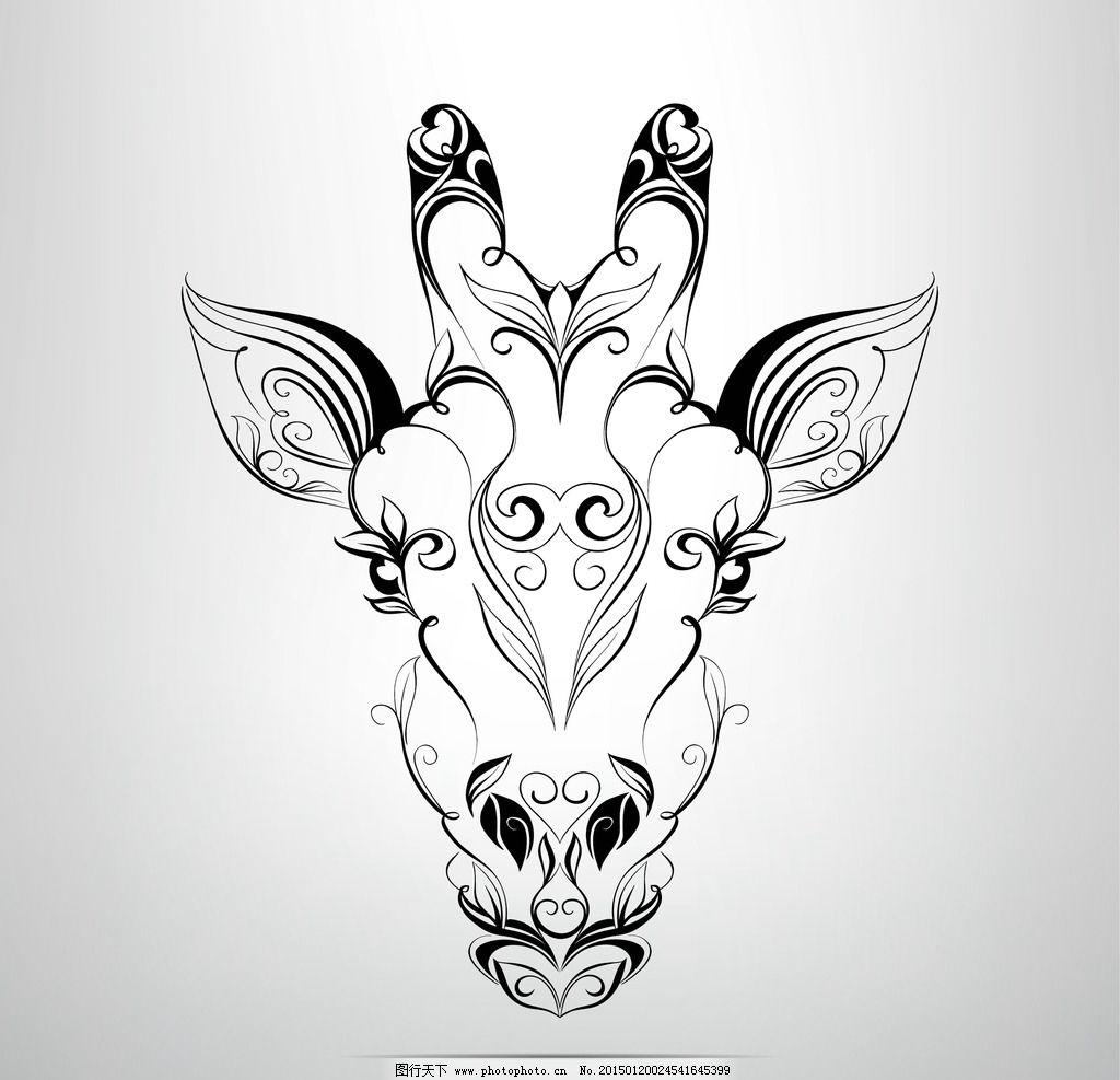 纹身 手绘 羊 图腾 花纹 纹样 手绘纹身图案 花边 设计 eps 设计 生物