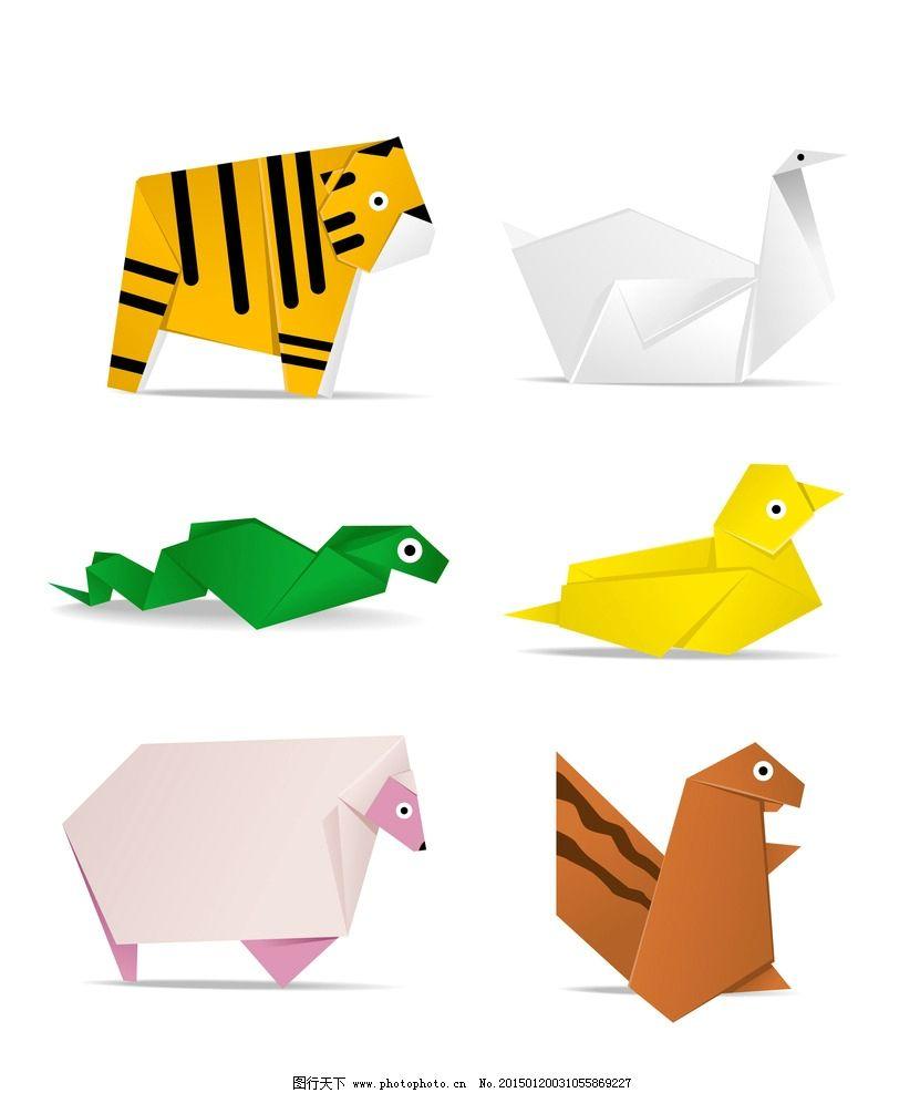卡通可爱动物折纸图片