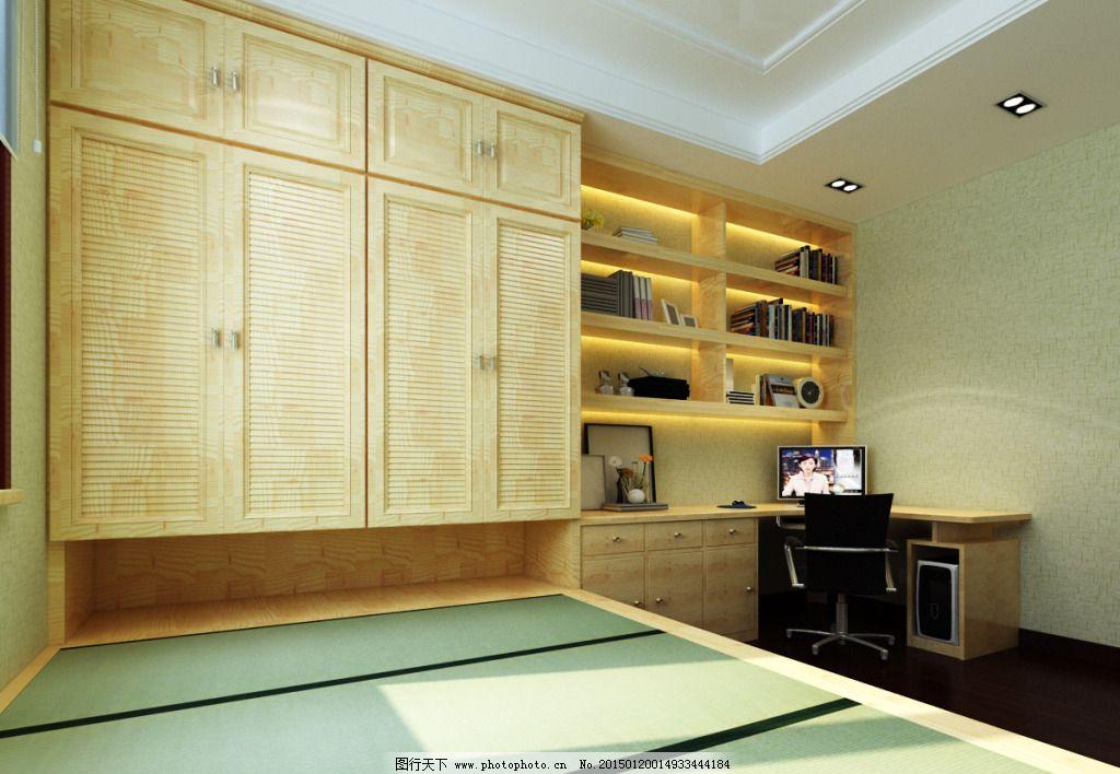 日式榻榻米卧室模型_经典榻榻米卧室 经典榻榻米卧室免费下载 家装 模型 日式 日式