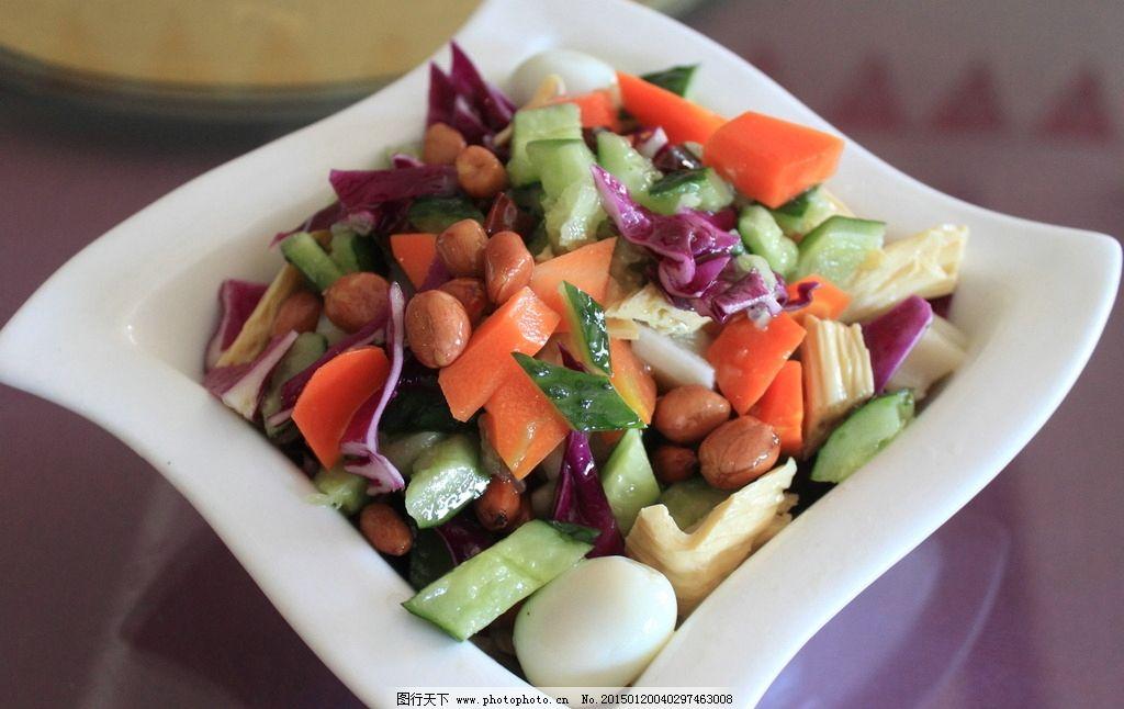 凉菜 素拼 碗菜图片