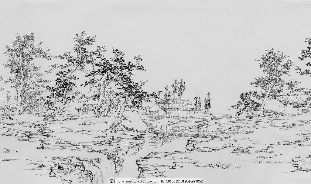 速写 插画 树 风景画 钢笔画 长卷速写 设计 文化艺术 绘画书法 150