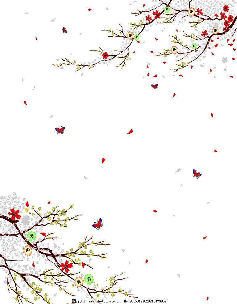 乱花图片背景 梅花树枝图片 花纹背景 背景底图素材 广告背景图片