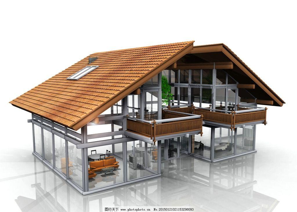 精美3d别墅 别墅设计模型 别墅建筑设计 别墅 建筑设计 建筑结构图